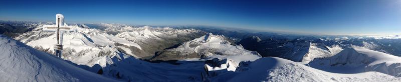 Panoramablick vom Großvenediger (3.657m)