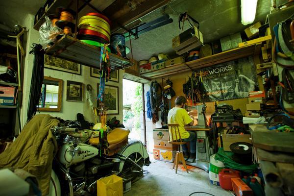 Jan Obročník in seiner Werkstatt (Foto: Jan Simanek)