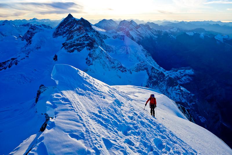 Am Gipfel des Mönch (4.107 Meter)